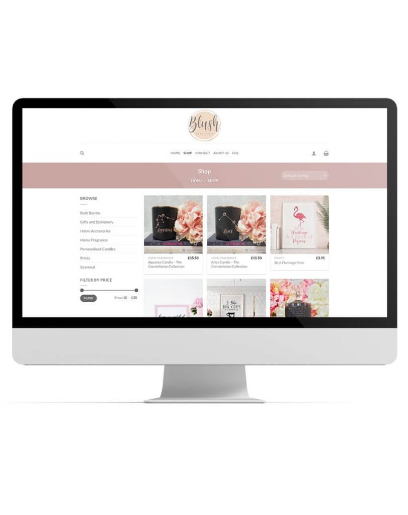Blush shop website